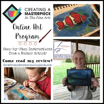 Creating a Masterpiece: An Online Art Program {Curriculum Review}