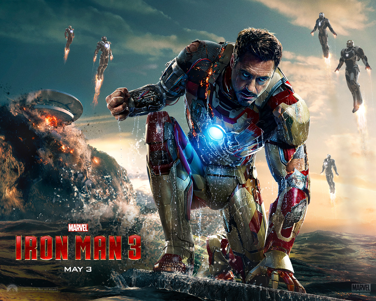 Iron Man Wallpapers: Free Download Official Iron Man 3 Movie Wallpapers