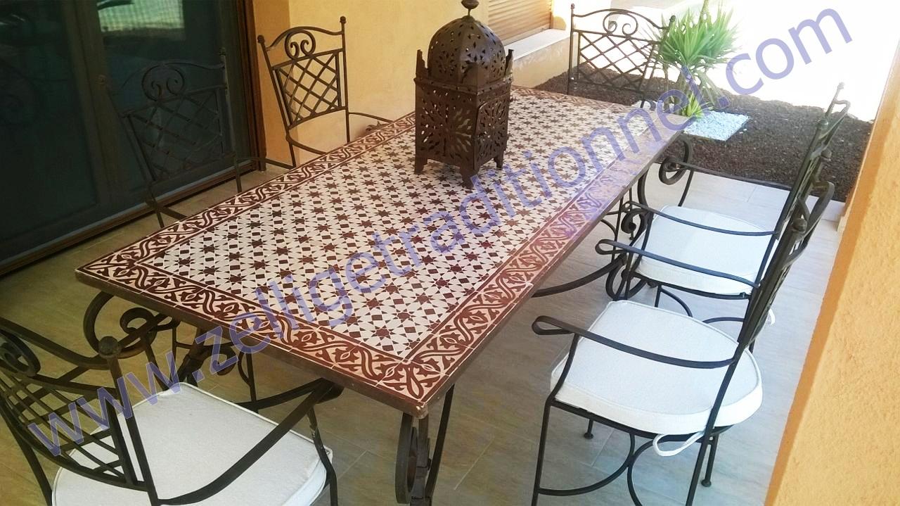 artisanat du table rectangulaire en mosa que traditionnel marocain. Black Bedroom Furniture Sets. Home Design Ideas