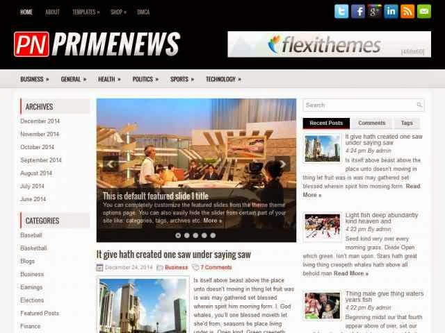 News Blog Worldpress themes and templates