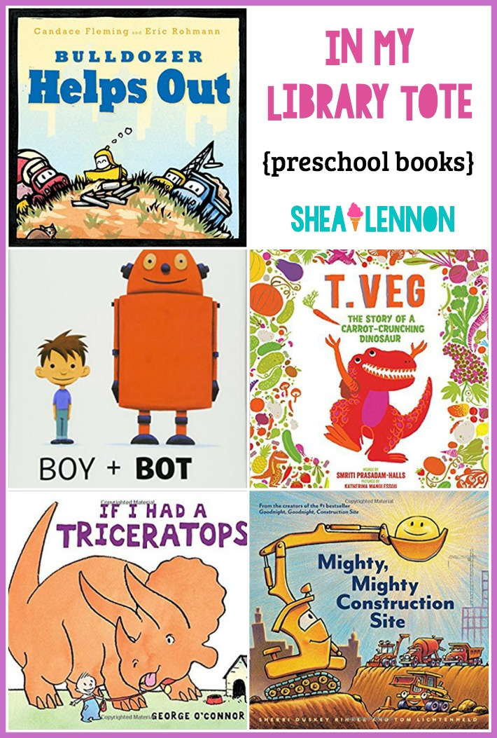 Shea Lennon In My Library Tote Preschool Books On Favorite Subjects