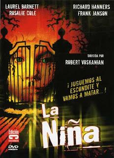 La Niña, carátula del DVD de esta extraña película dirigida por Robert Voskanian