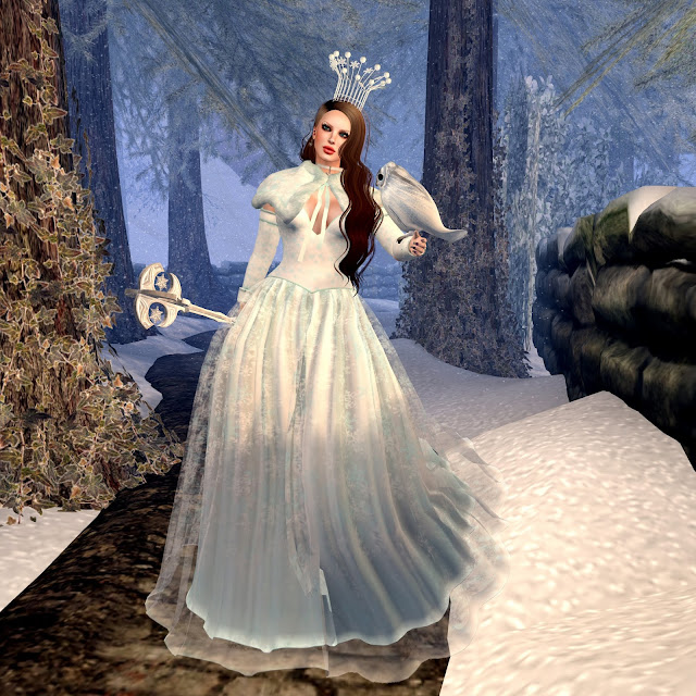 jinx,snow queen dress,