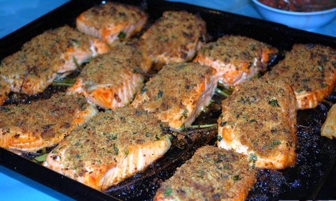 Baked Salmon with Parsley and Breadcrumbs