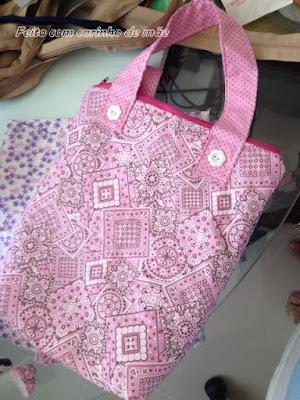 bolsa infantil de tecido