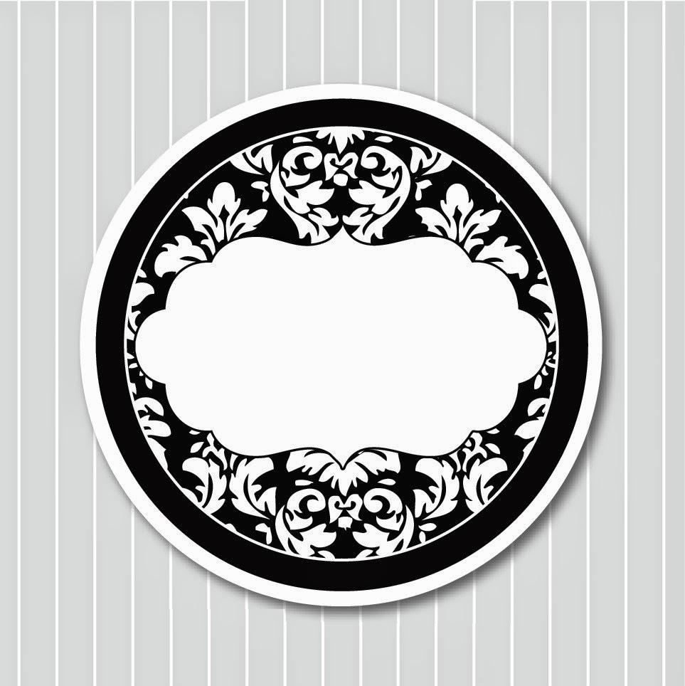 Damascos Negros: Etiquetas, Toppers y Tarjetas para Imprimir Gratis ...