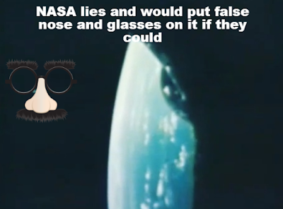 A reenactment of how NASA would fake any UFO in their images if they could get away with it.