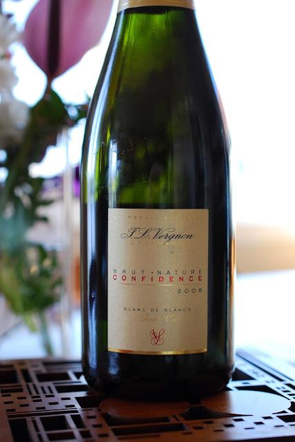 J.L. Vergnon Brut Nature Blanc de Blancs Champagne Confidence 2008