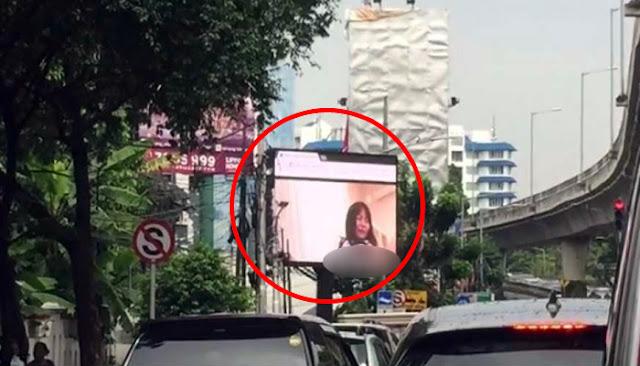 Heboh!!! Film Biru di Videotron Dekat Kantor Walikota Jakarta Selatan