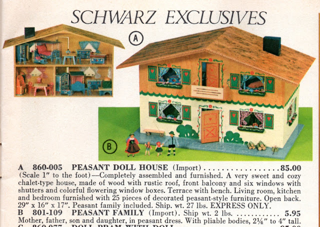 Make Do Dolls Dora Kuhn Peasant Dollhouse 1960