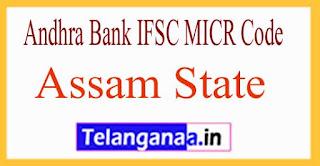Andhra Bank IFSC MICR Code Assam State
