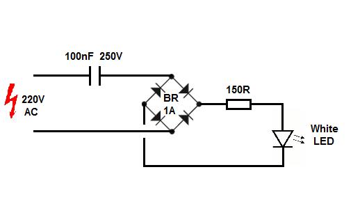 Running LED By 220v