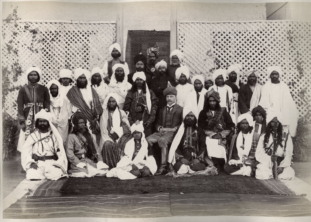 Balochistan Merkani chiefs and British Agent - Circa 1890's