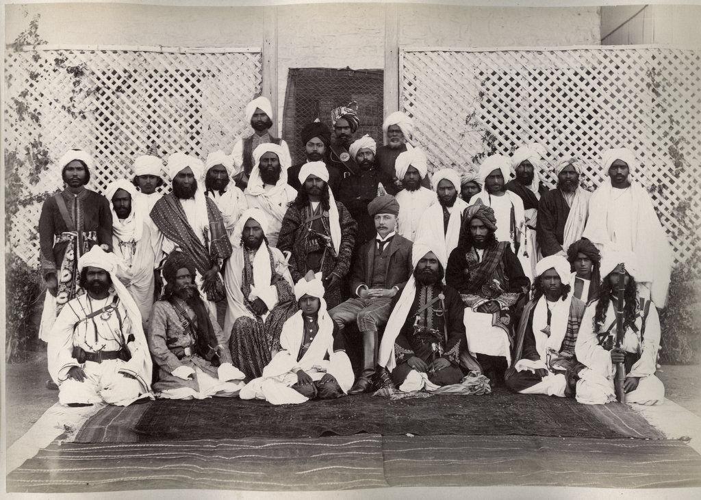 Balochistan Merkani chiefs and British Agent - Circa 1890's