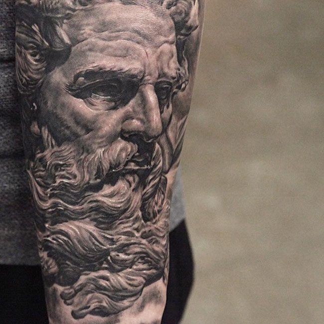 tatuaje de un cuadro famoso