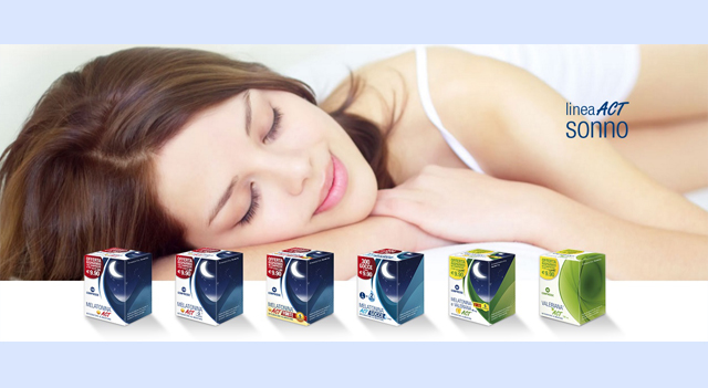 Linea ACT, sonno, sleeping dietary supplement, melatonin, valerian, sleep