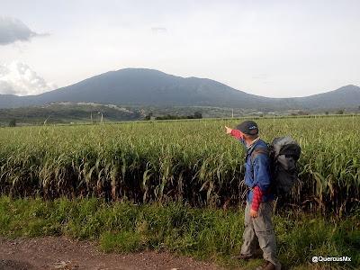 Volcán de Tequila desde las parcelas de Teuchitlán