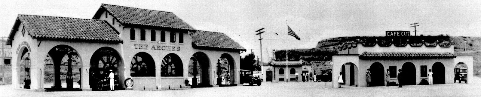 An Early Image Of The Arches Service Station Left And Market Cafe Right