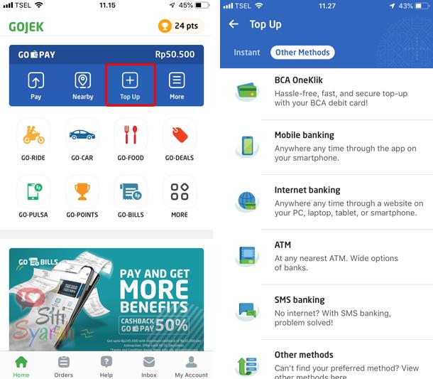 bagaimana isi saldo gopay di android dan iPhone