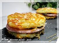 Croque-monsieur pomme de terre pesto