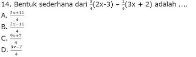 Soal Aljabar Kelas 7 SMP gambar 4