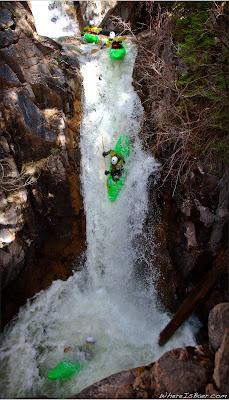 Chris Baer cleaning the last drop of Crazy Women Creek, Animas, CO, Colorado, Canyon Creek,