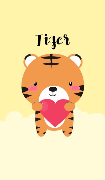 I Love Cute tiger Theme