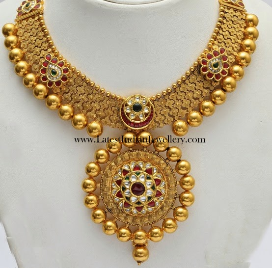 Elegant Kundan Bridal Gold Necklace