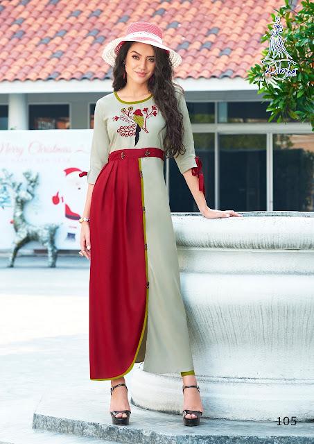 Kriva vol 1 Diksha fashion Casual wear kurtis wholesaler