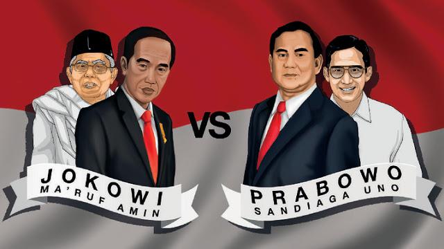 Hasil gambar untuk jokowi vs prabowo 2019