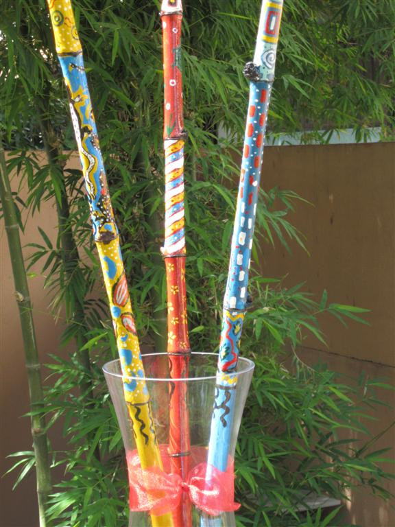 My Garden Room Bamboo Poles Painting