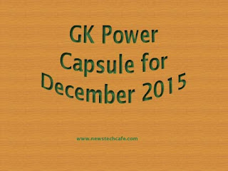 December 2015 Bankersadda GK Power Capsule PDF Download