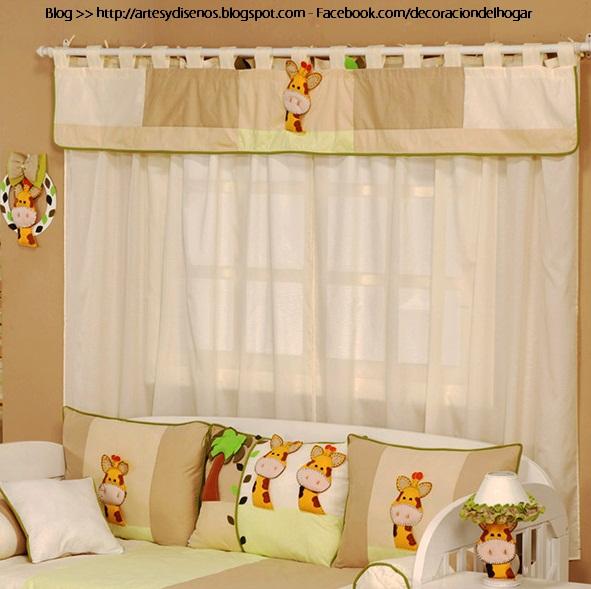 Cortinas para dormitorios de bebes for Cortinas habitacion bebe