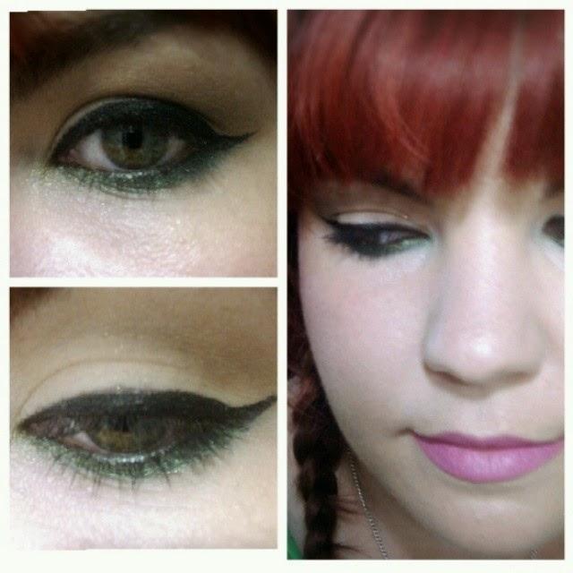 look delineado en verde