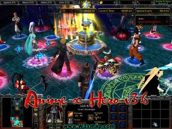 Warcraft iii: the frozen throne game mod one piece great war.