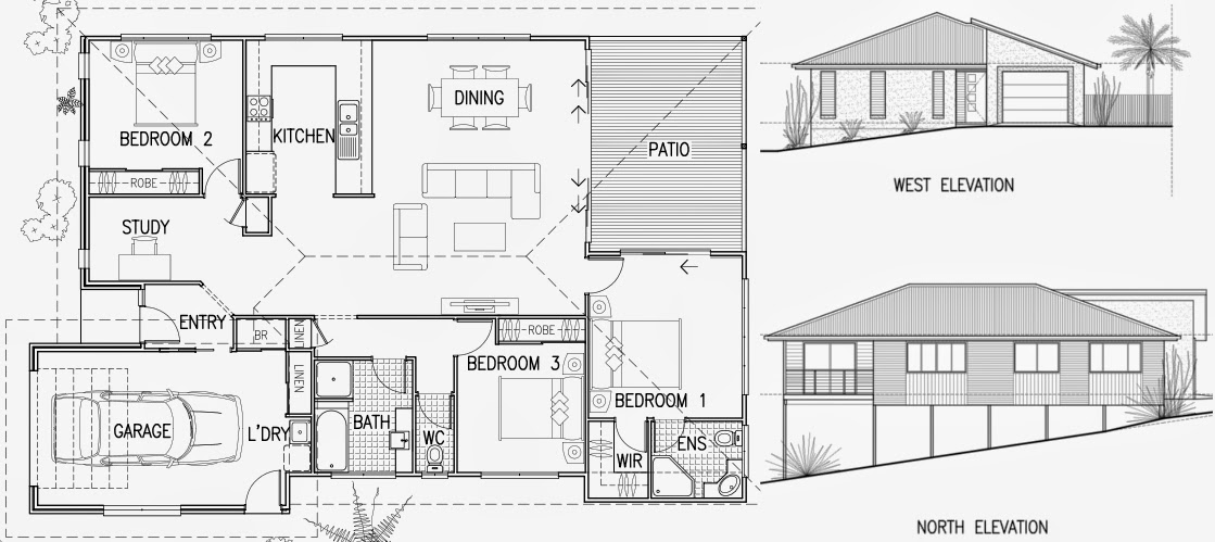 building design plan and elevation - Building Design Plan