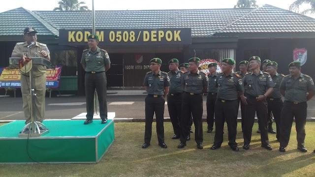 Pradi Jadi Irup Upacara Bendera di Makodim 0508/Depok