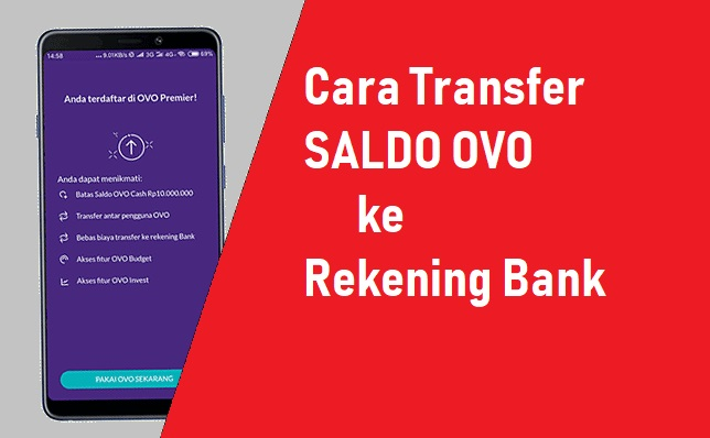 Cara Mencairkan Dana OVO ke Rekening Bank