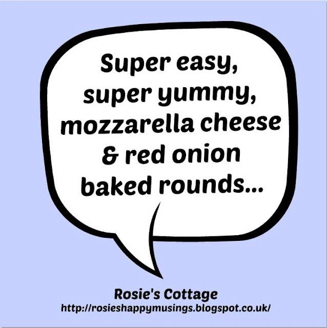 Super yummy mozzarella cheese & red onion baked rounds