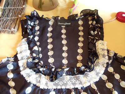 RUFFLES AND PEARLS BLOUSE