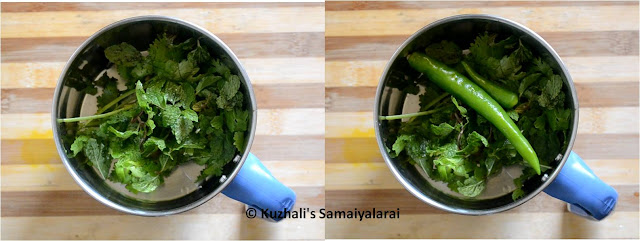 MINT AND CORIANDER FLAVOURED PEAS SUNDAL(PATTANI SUNDAL)
