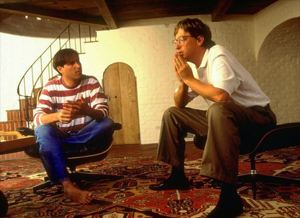 Ultimate Collection Of Rare Historical Photos. A Big Piece Of History (200 Pictures) - Steve Jobs and Bill Gates