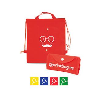 Mochilas para niños plegables personalizadas rojas