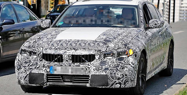 2019 BMW 3 Series sedan spied
