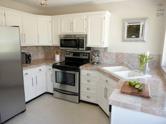 15 Painting kitchen cabinets before and after