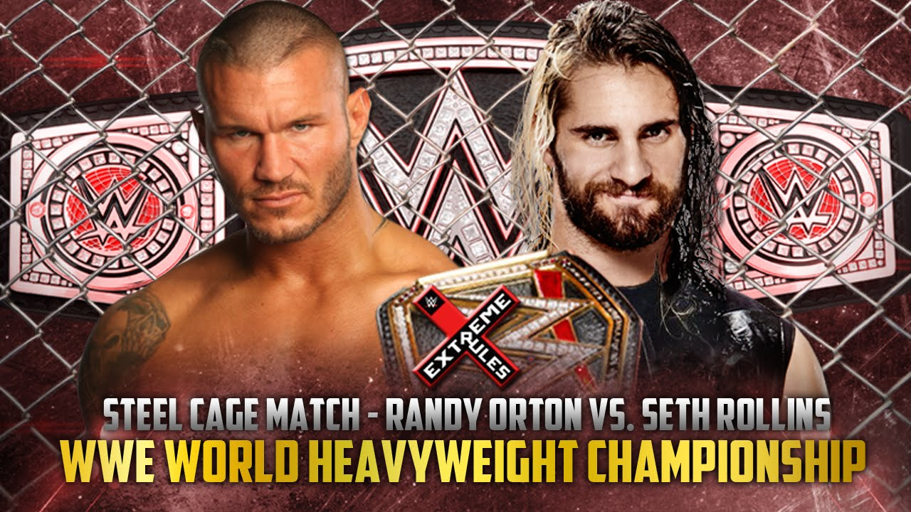 steel cage match for the title that saw orton and seth go at it heavily some interference occurred of course but the most noteworthy part comes when seth
