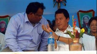 Bimal Gurung with John Barla