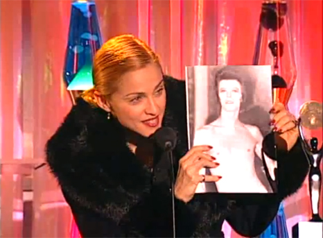 Madonna about David bowie award