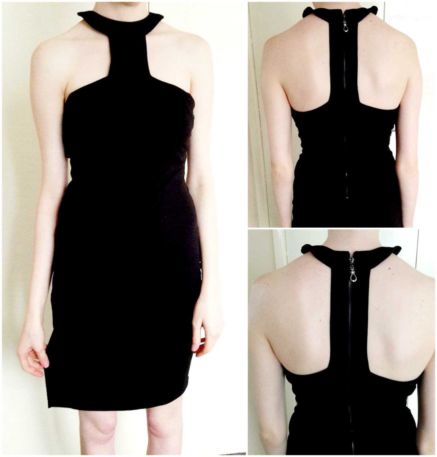 Luxemme Nyane Lux Cut Out High Neck Dress