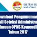 Download Pengumuman Hasil Seleksi Administrasi Penerimaan CPNS Kemendikbud Tahun 2017